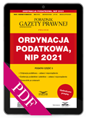 Ordynacja podatkowa, NIP 2021. Podatki część 3 (PDF)
